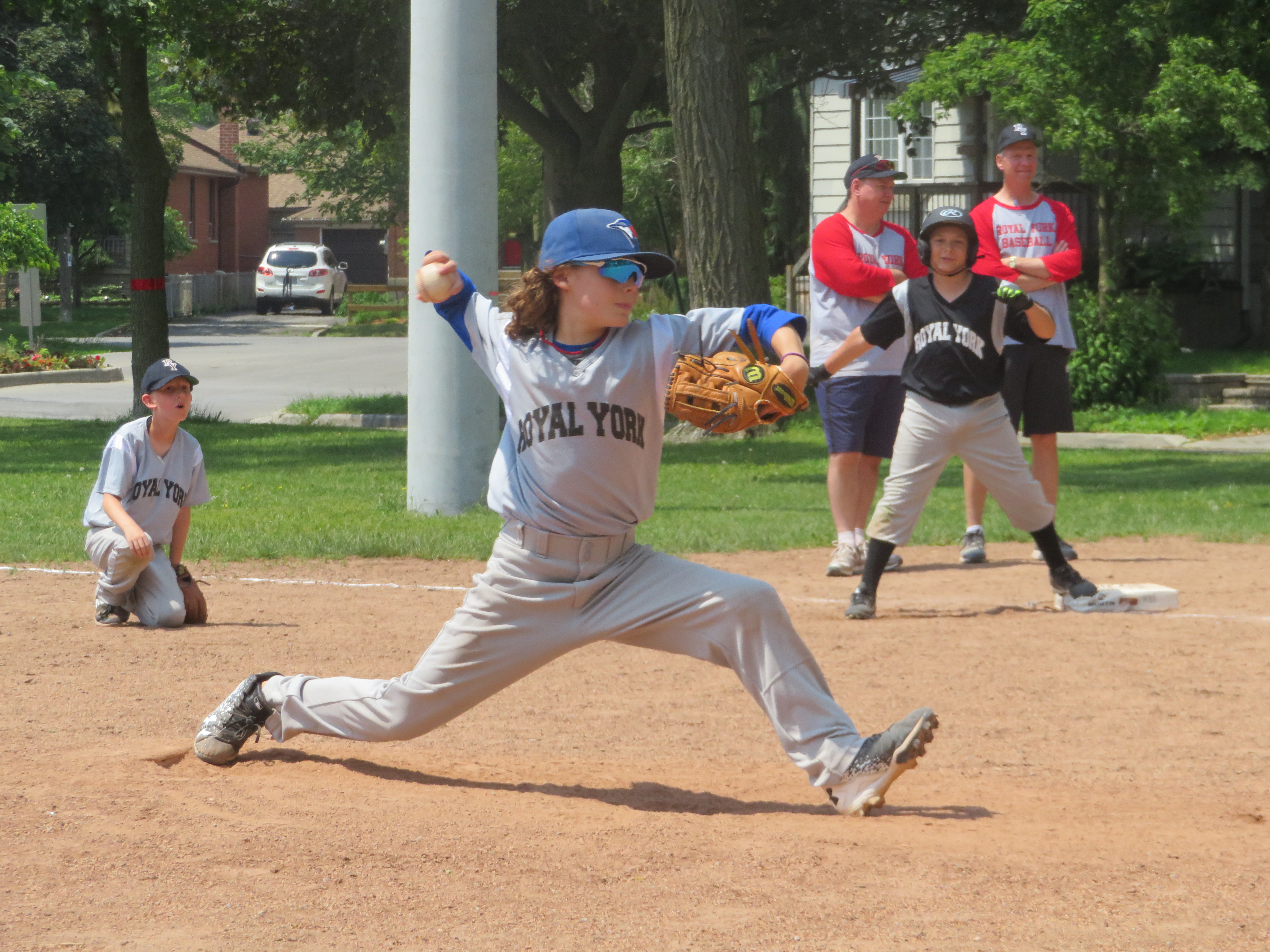 Owen Peterson cranking up the heater at a Mosquito game last Saturday!